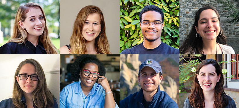 Headshots of the 8 Fulbright recipients